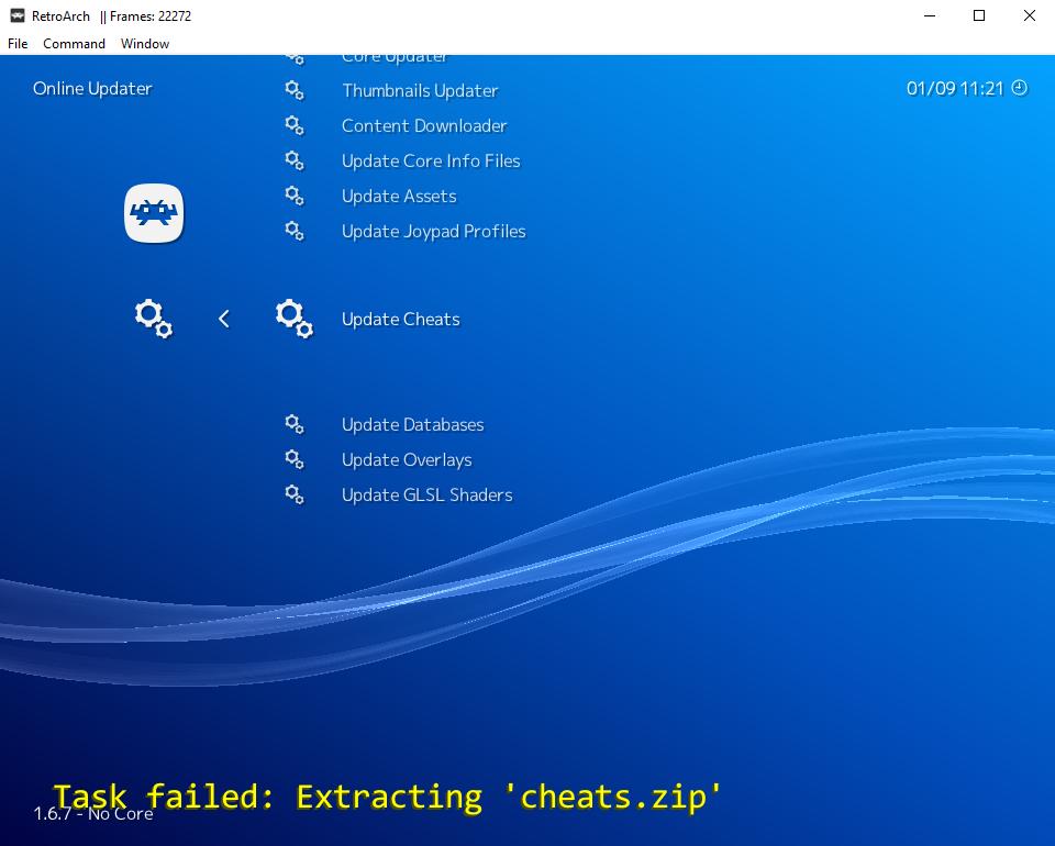 Task Failed: Extracting