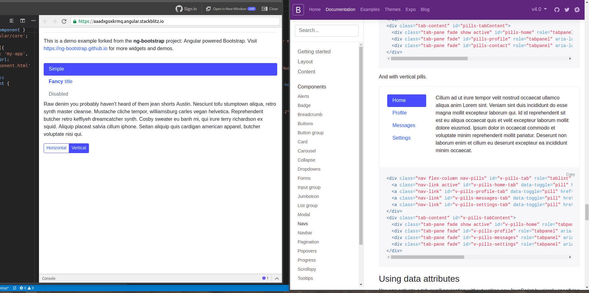 Vertical Tabs Alignment issue · Issue #2849 · ng-bootstrap