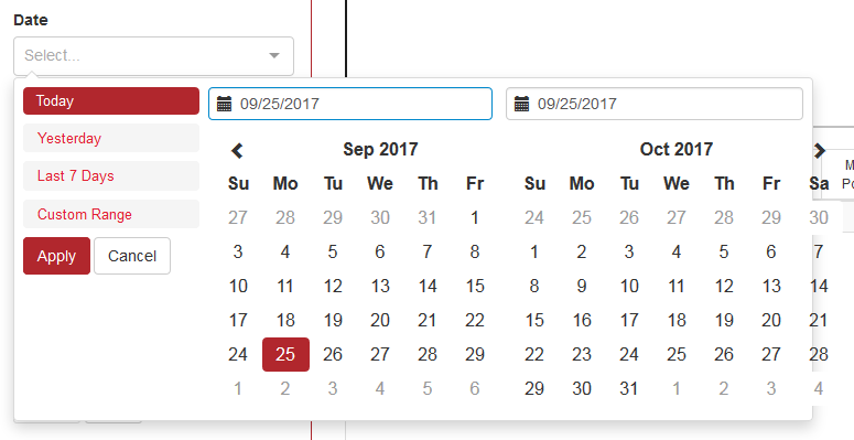Date Range Picker React