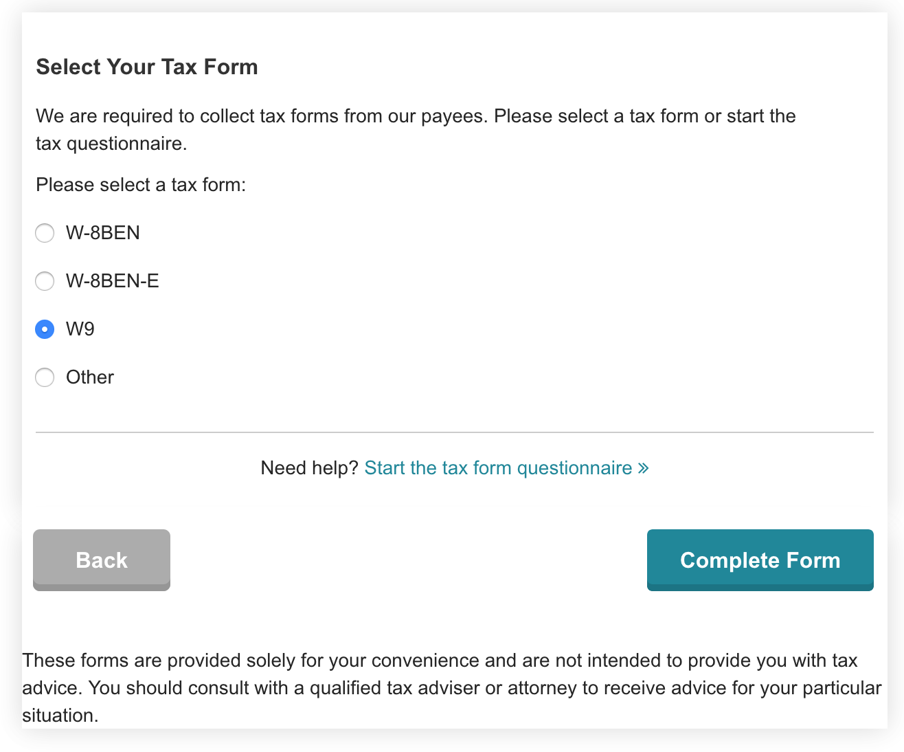 Design for automating tax form process · Issue #1386