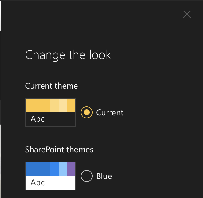 Online Workbench doesn't reflect theme colours of parent web