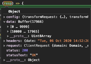axios arraybuffer base64 変換 pdf