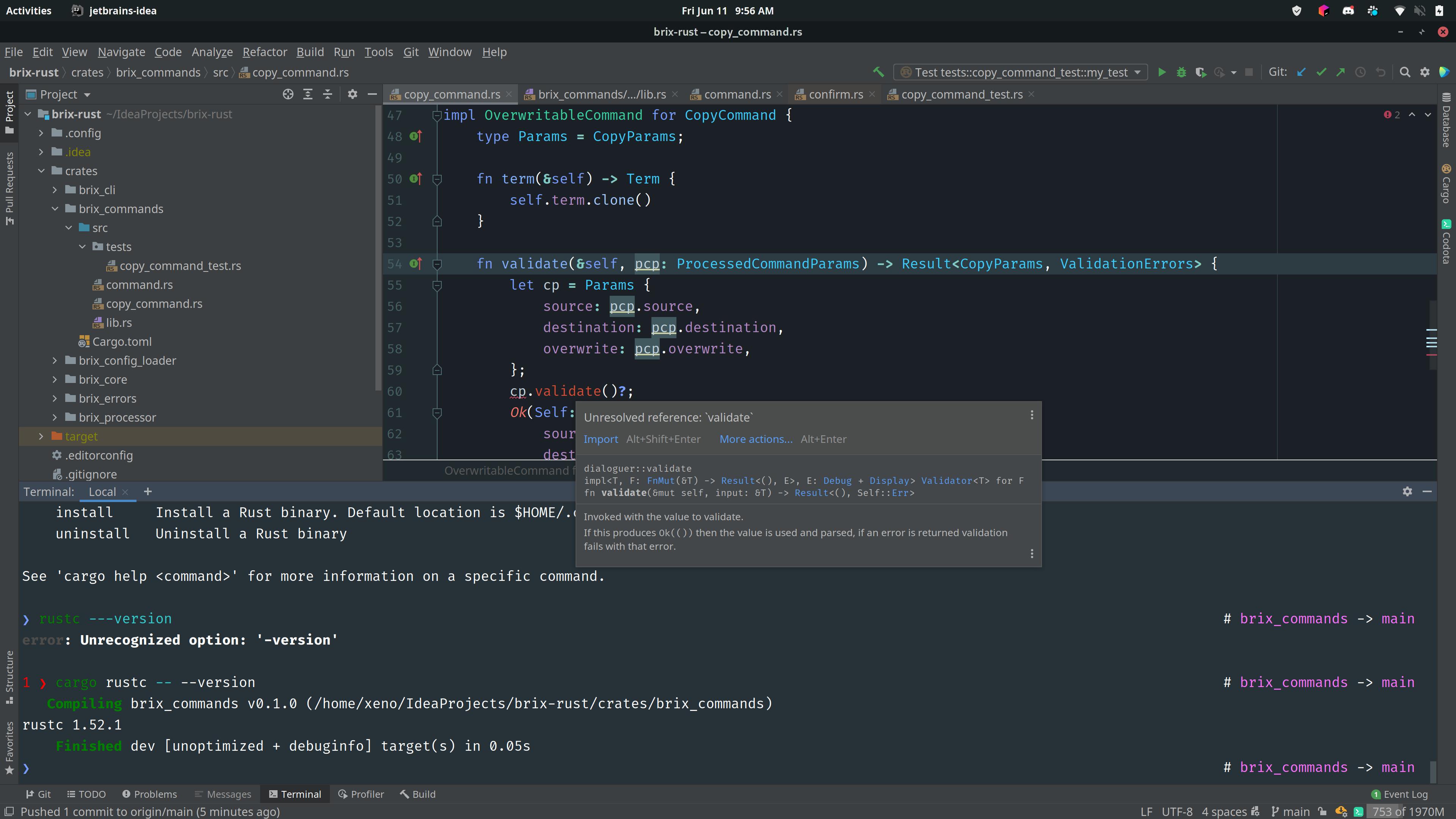 ide screenshot of problem