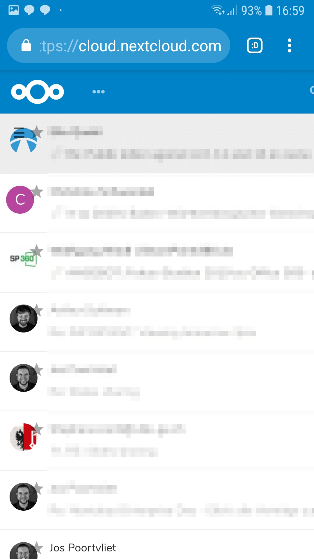 Scrolling down on mobile doesn't load more mail (Chrome