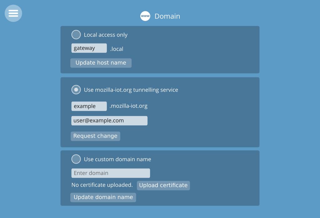 Settings Custom Domain Issue 82 Mozilla Iotgateway Github