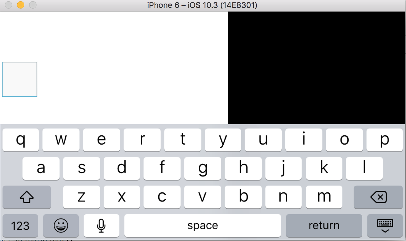 iOS keyboard in landscape mode moves view off screen · Issue