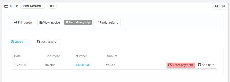 PR16046 enter payment legacy
