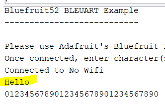 BLEUart Device disconnects after [BLE