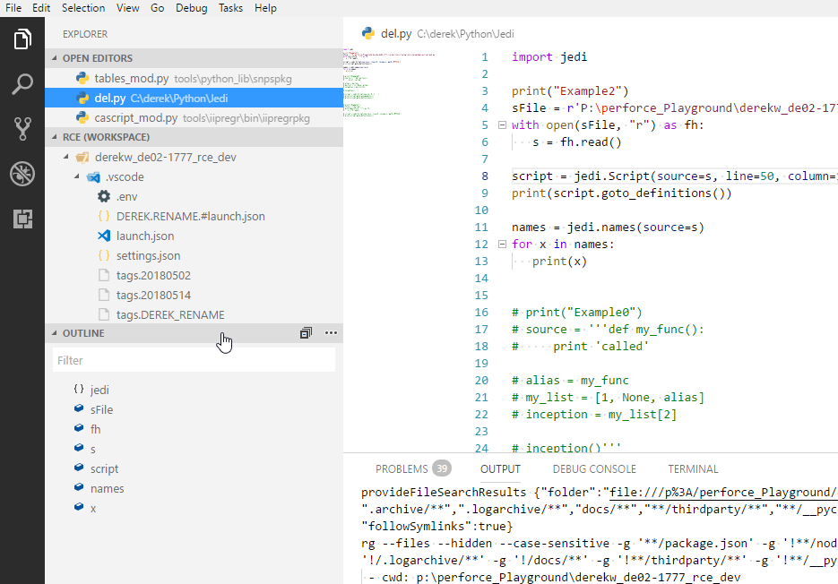 Intellisense stops working for python files when using the new
