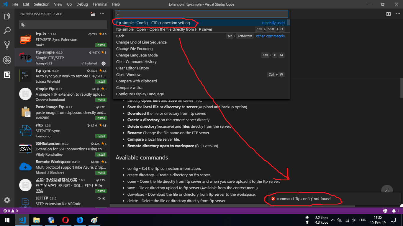 VSCode's FTP-Simple not working · Issue #119 · humy2833/FTP