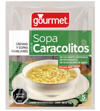 sopa de caracolitos - gourmet