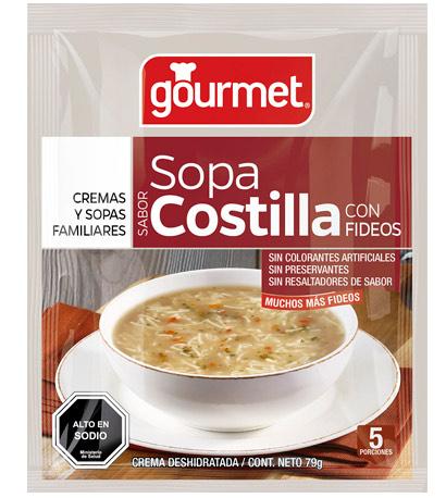 sopa de costilla con fideos - gourmet