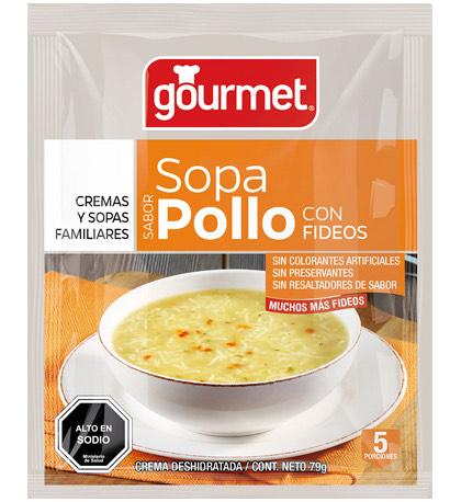 sopa de pollo con fideos - gourmet