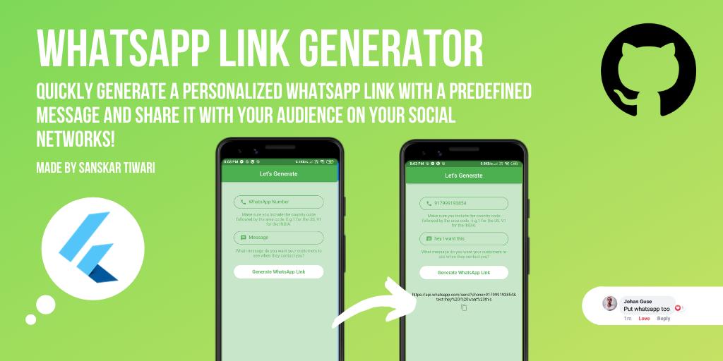 whatsapp share link generator