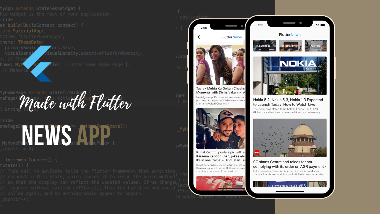 Flutter news app theindianappguy