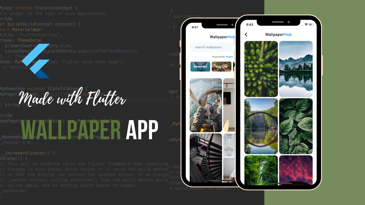 Build Wallpaper App with Flutter theindianappguy 2