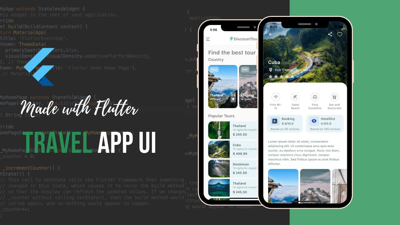Flutter Travel App UI Design Challage theindianappguy