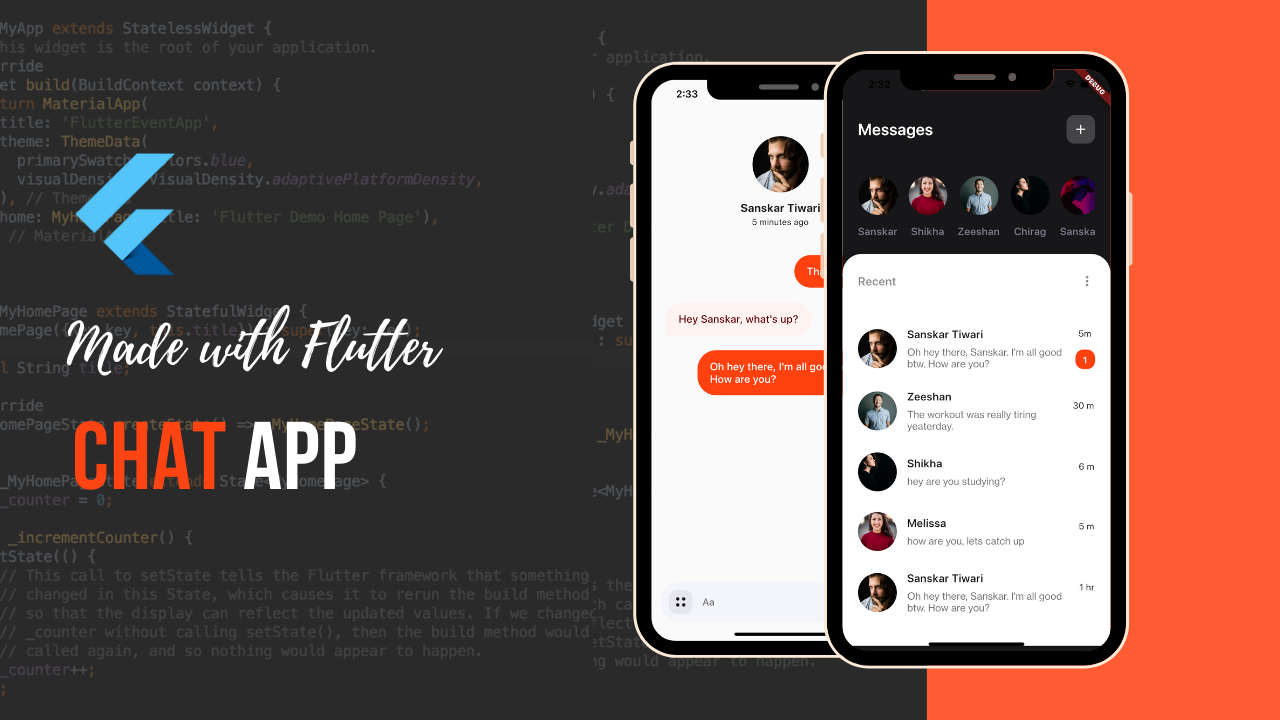 Flutter Chat App UI Design Made by theindianappguy