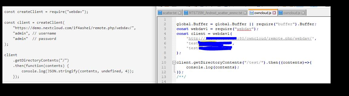 nodejs webdav-client can't connect nexcloud webdav · Issue #8037