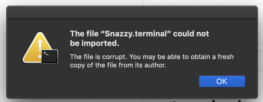 Unable to import after macOS security prompt · Issue #3