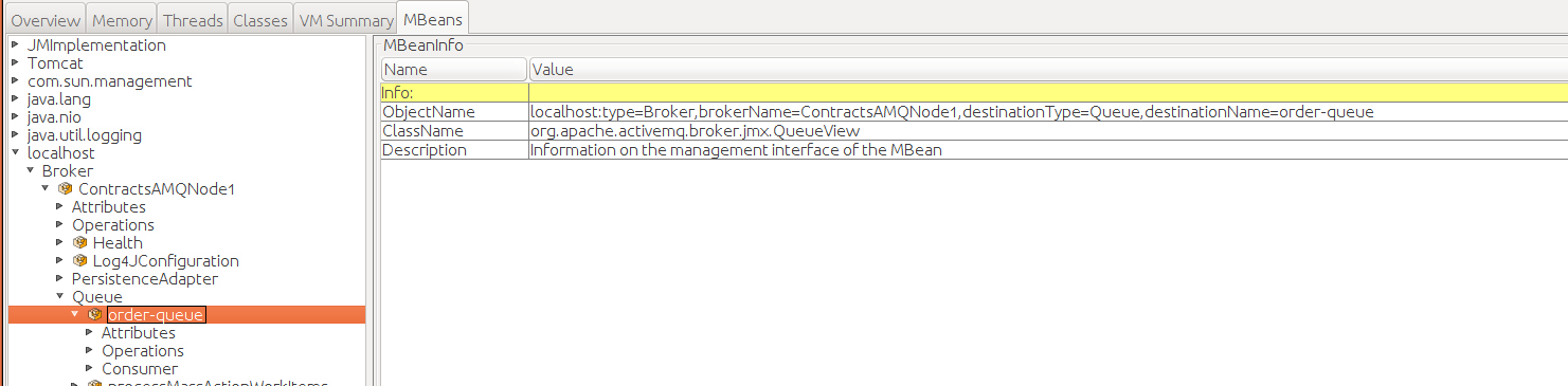 No queues are visible when session is opened on an embedded