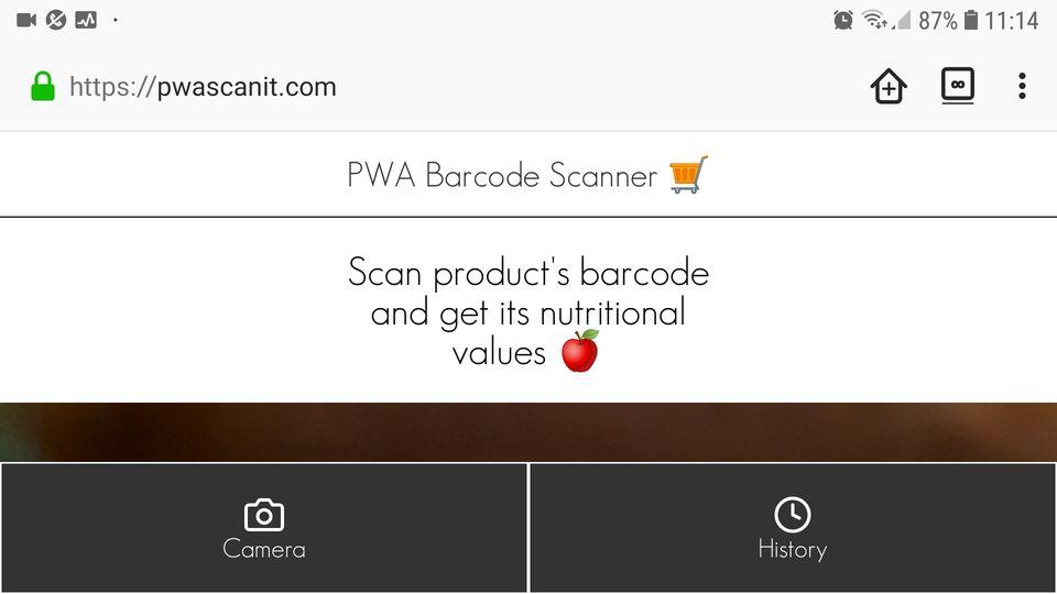 Pwa Barcode Scanner
