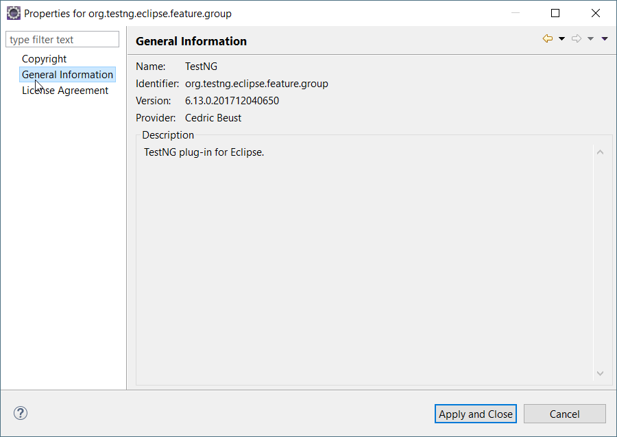 Test NG plugin not showing up in preferences in Eclipse Oxygen