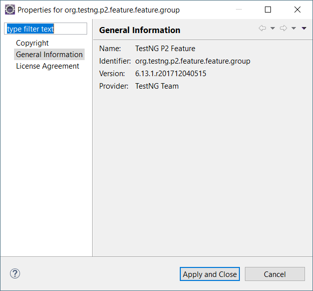 Test NG plugin not showing up in preferences in Eclipse