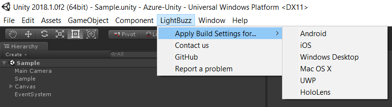 lightbuzz-build-settings