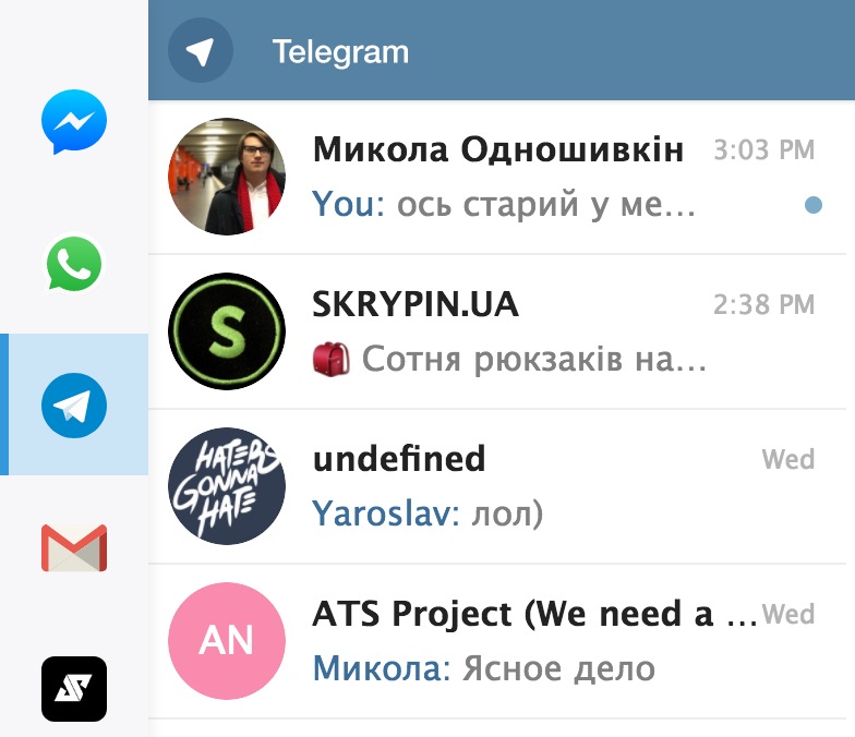 Franz (Beta) sometimes opens out-of-date Telegram web