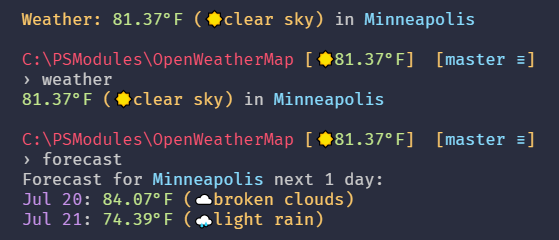Open Weather Map Api Example.Github Kamranayub Posh Openweathermap Powershell Module To Get