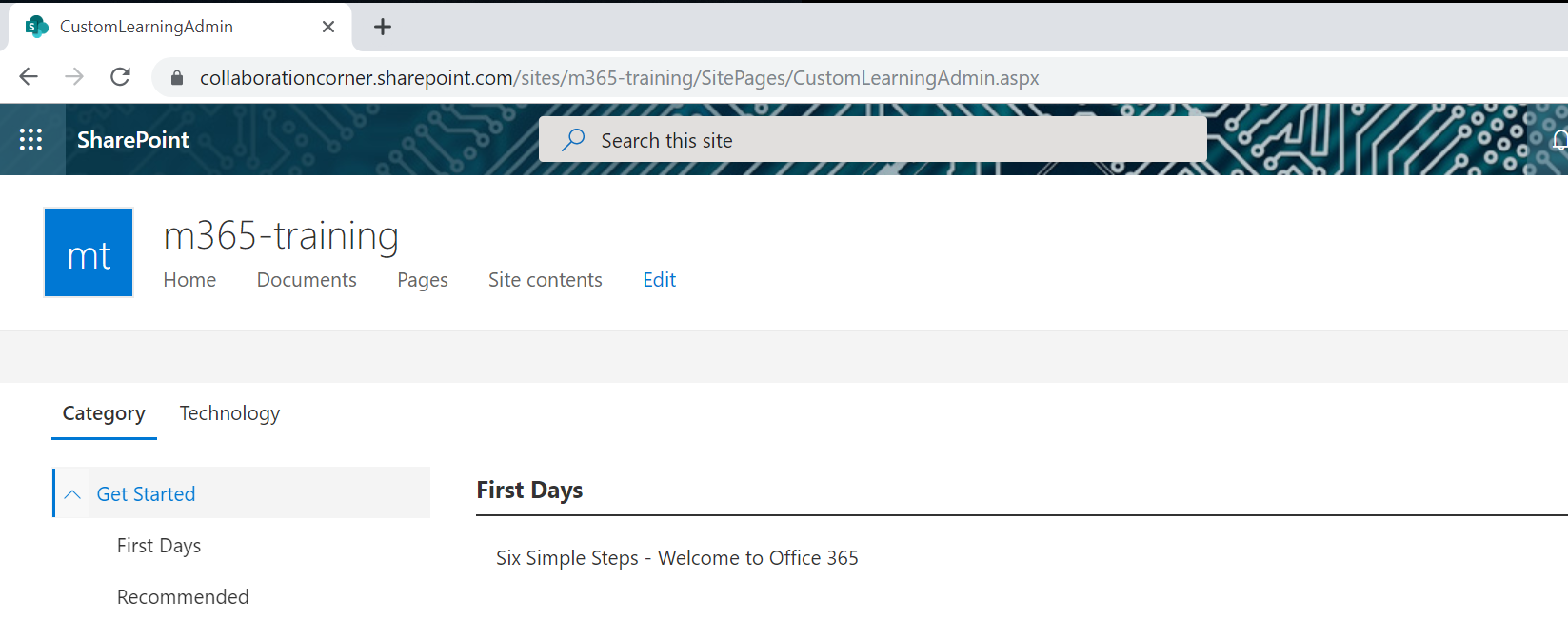 CustomLearningAdmin aspx first use not working with Firefox