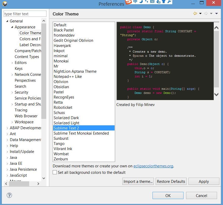 离线安装Eclipse的Color theme plugin · Issue #12 · i042416