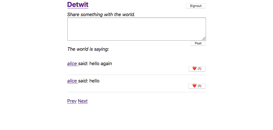 A screenshot of detwit