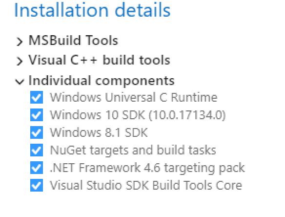 Installation error - can't find Microsoft SDKS/   /lib