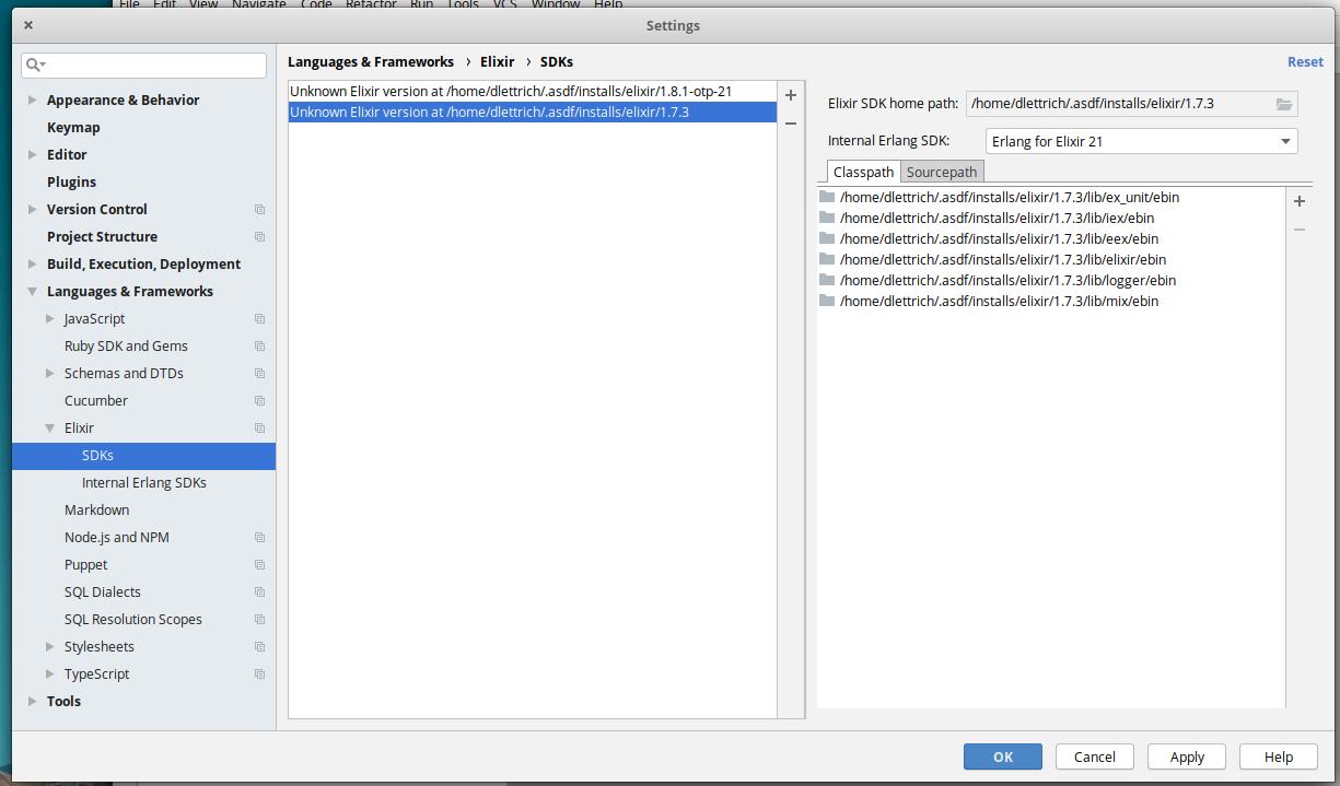 Elixir SDK is probably corrupt for asdf on Ubuntu/Elementary OS