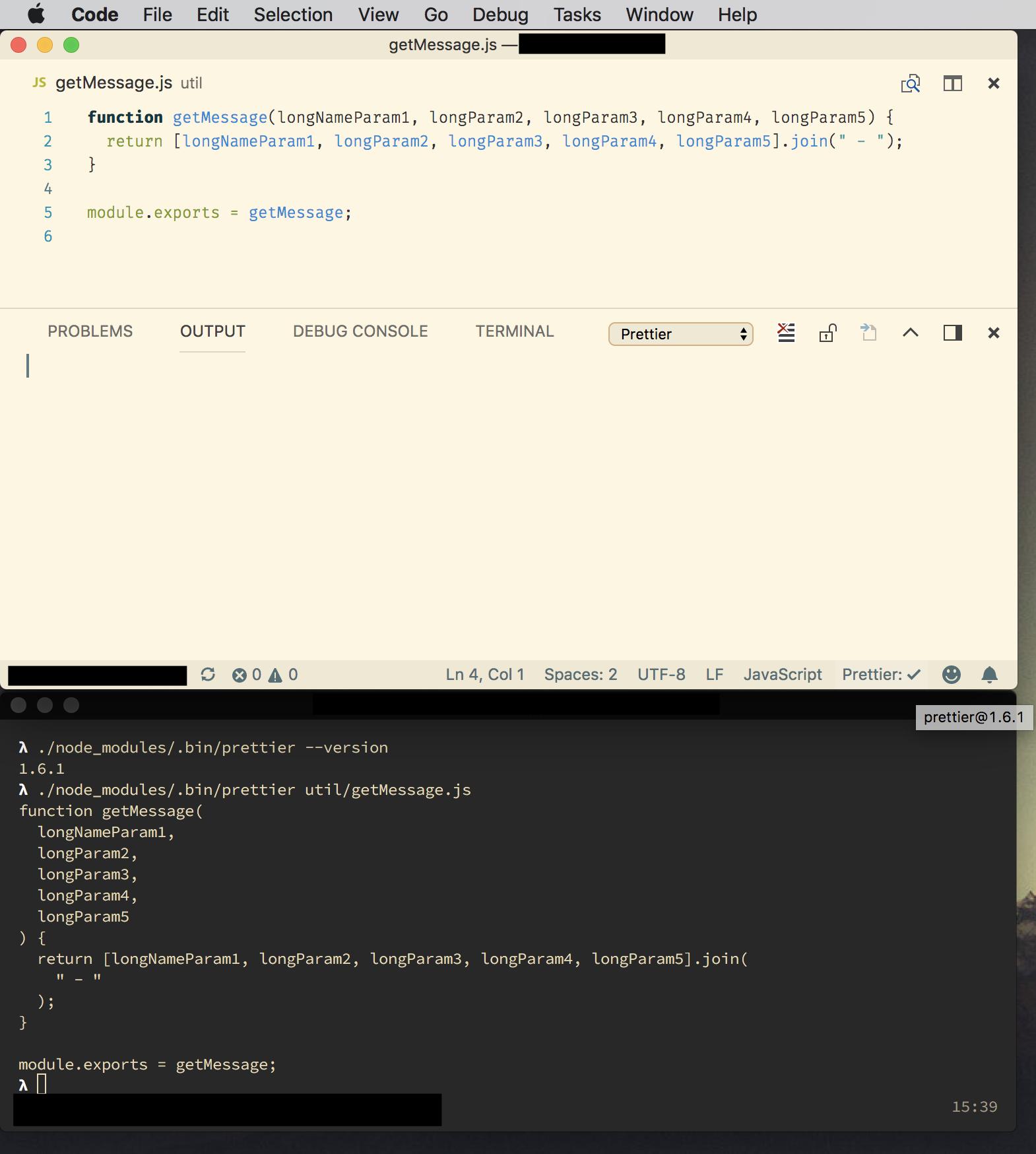 Inconsistent results when running prettier cli and prettier-vscode