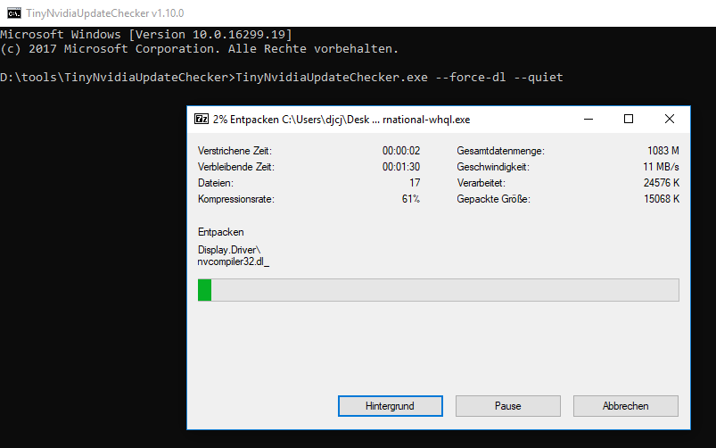 7zip refuses to extract from downloaded installer · Issue #26