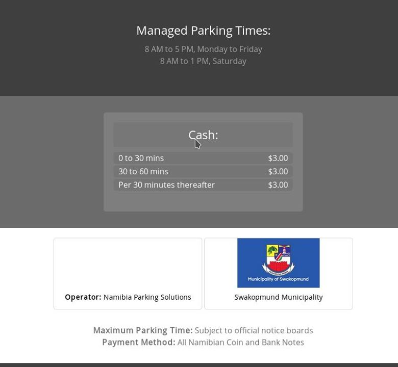 parking times costs