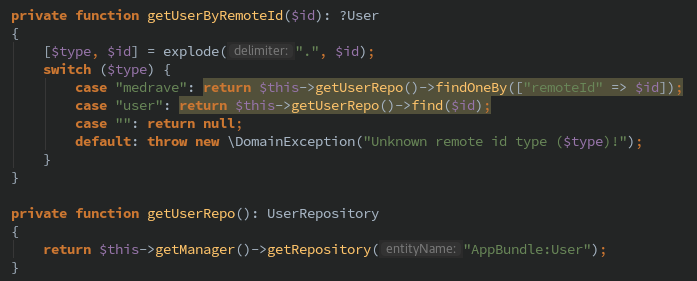 Doctrine findBy()/findOneBy() in repository fails as