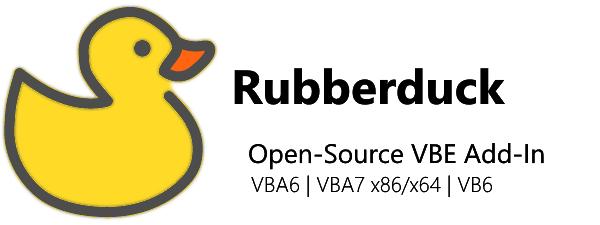Rubberduck Open-Source VBE Add-In - VBA6 | VBA7 x86/x64 | VB6