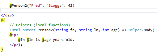 Add an HTML-formatted constructions support into Razor instead of