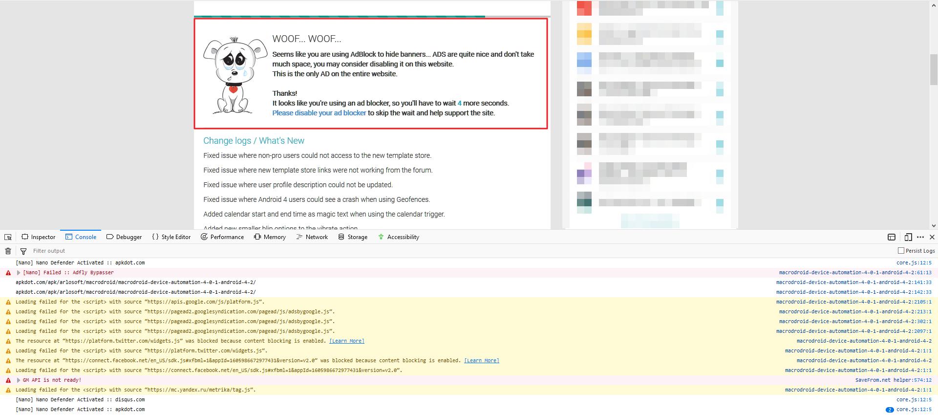 Anti-adblock] apkdot com · Issue #254 · NanoAdblocker/NanoFilters