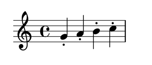 staccato-without-direction