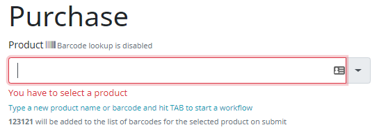 barcodes are not getting saved to the product