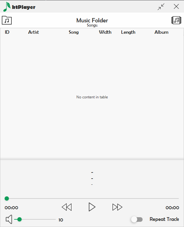 GitHub - ktualhu/ktPlayer-Music-Player: ktPlayer - Music