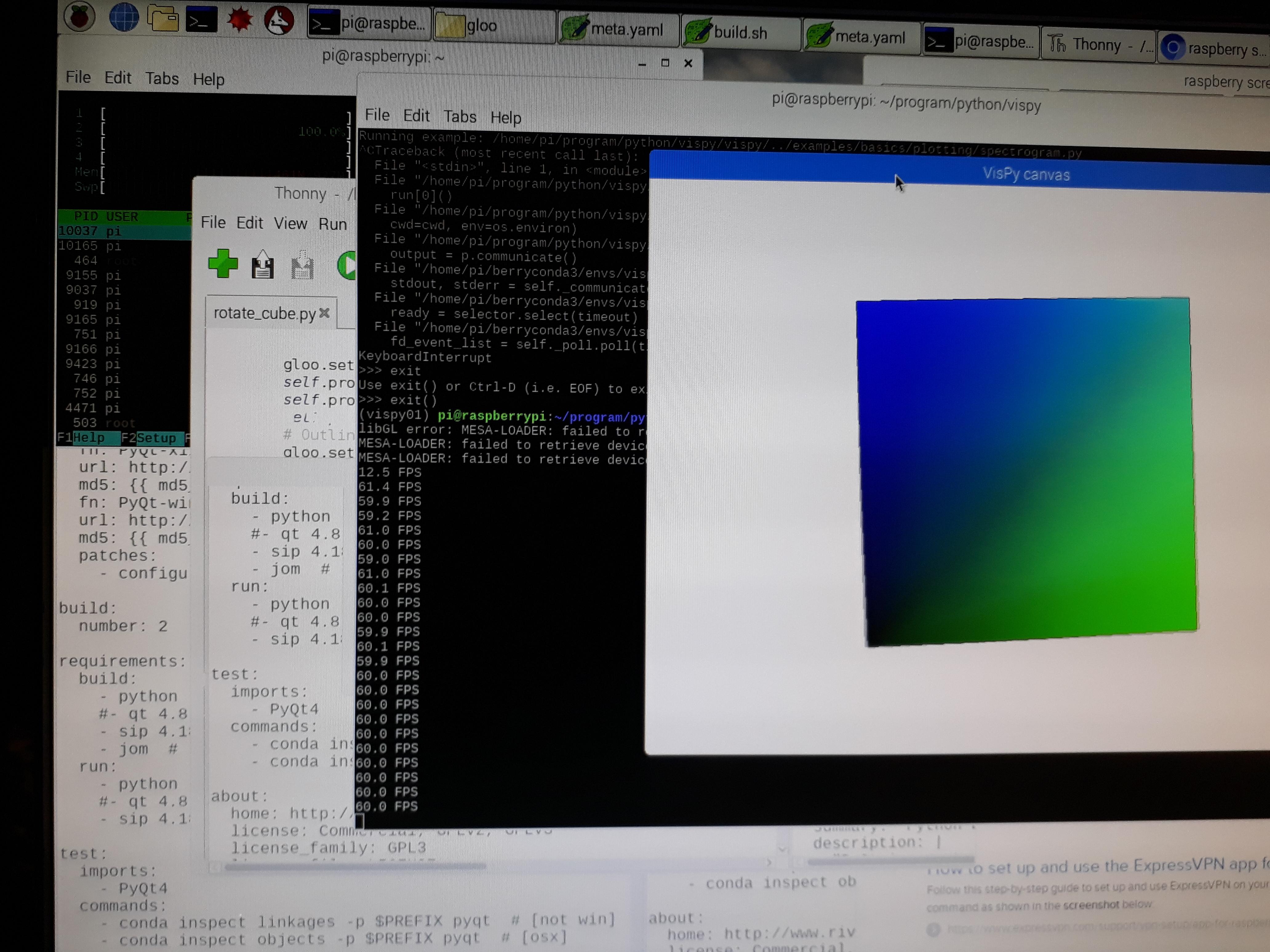 Make Vispy work on the Raspberry Pi! · Issue #495 · vispy/vispy · GitHub