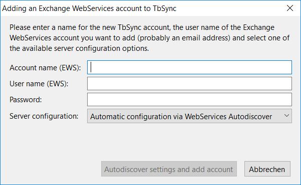 TbSync + EWS ? · Issue #182 · ExchangeCalendar