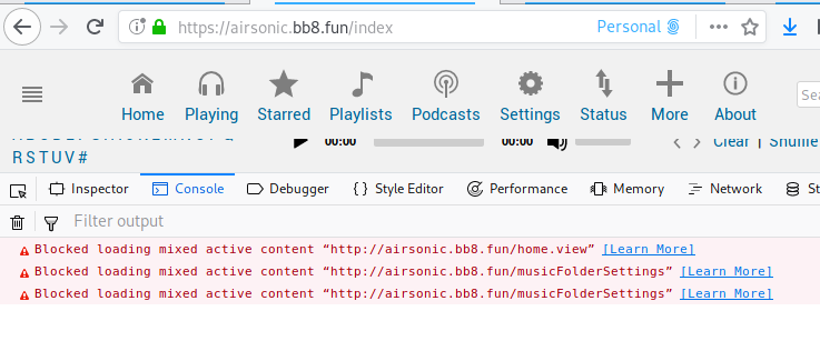 Mixed Content warnings behind HTTPS · Issue #13