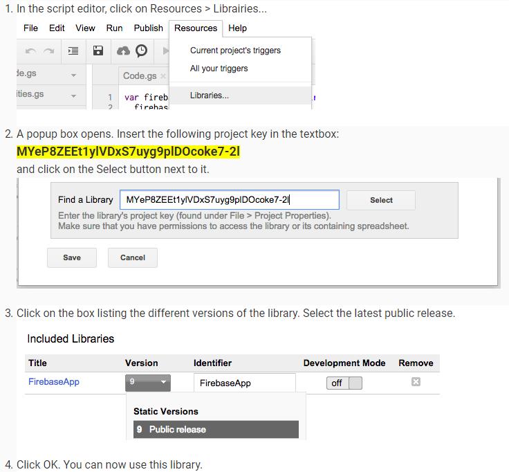 Google Spreadsheets script for syncing to Firebase · GitHub